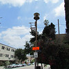 An air raid siren from the Cold War era at the base of the trail.  The sirens used to be tested at 10 a.m. on the last Friday of every month but were decommissioned in1986 and have remained quiet since. There are about 150 of these sirens still standing in Los<br /> Angeles.
