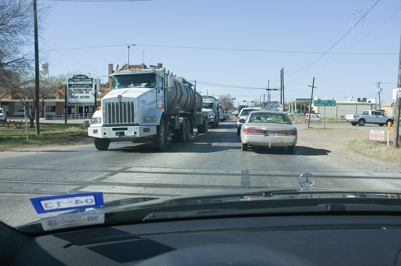 Noon on a Friday afternoon in Cotulla