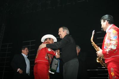 """Interim mayor Bill Vidal proclaimed Friday """"Los Tigres Del Norte"""" day in Denver. Photos by Julio Enriquez, heyreverb.com."""