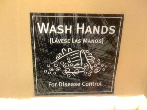 """For Disease Control"" for the 1% of American's who didn't know WHY we wash our hands"