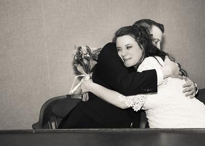 Hugs in Wedding Chamber bw (1 of 1)