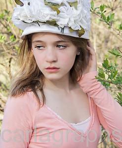 Laura Harris Flower Hat-