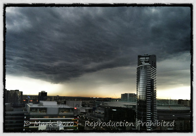 Storm cell over Melbourne