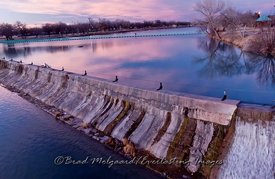 """Nice Evening For A Walk"" / Pecos River Upper Dam - Carlsbad, New Mexico"