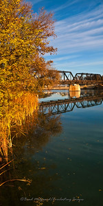 """Railway Reflection Portrait"" / Pecos River - Carlsbad, New Mexico"