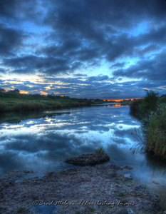 """Blue Twilight"" / Pecos River east of the Flume - Carlsbad, New Mexico"