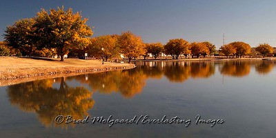 """Bronze Fall Reflection"" / Pecos River Lower Tansill Dam - Carlsbad, NM"