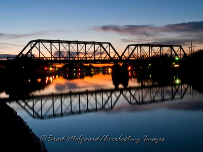 """Twilight Bridge"" / Pecos River - Carlabad, New Mexico"