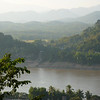 View across the Mekong River from Mt Phusi.