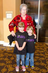 Barbara Briggs, Savannah Nichols and Caitlin Rice attend the Lubbock gathering.