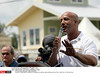 August 29 2009. Lower 9th Ward, New Orleans, Louisiana.<br /> 4th Anniversary of Hurricane Katrina remembered.<br /> Mayor Ray C Nagin speaks to dignitaries and residents of Lower 9th ward on Tennessee Street. Photo Credit: Charlie Varley/Sipa Press/0908311634 (Newscom TagID: sipaphotostwo482113) [Photo via Newscom]