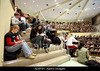 P3.4 Photo of big lecture hall with listeneres taking notes. <br /> Choice 9 of 10<br /> <br /> ADEF9Y Vorlesung Universitaet Leipzig