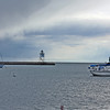 The Grand Marais harbor- we had some sleet while there.