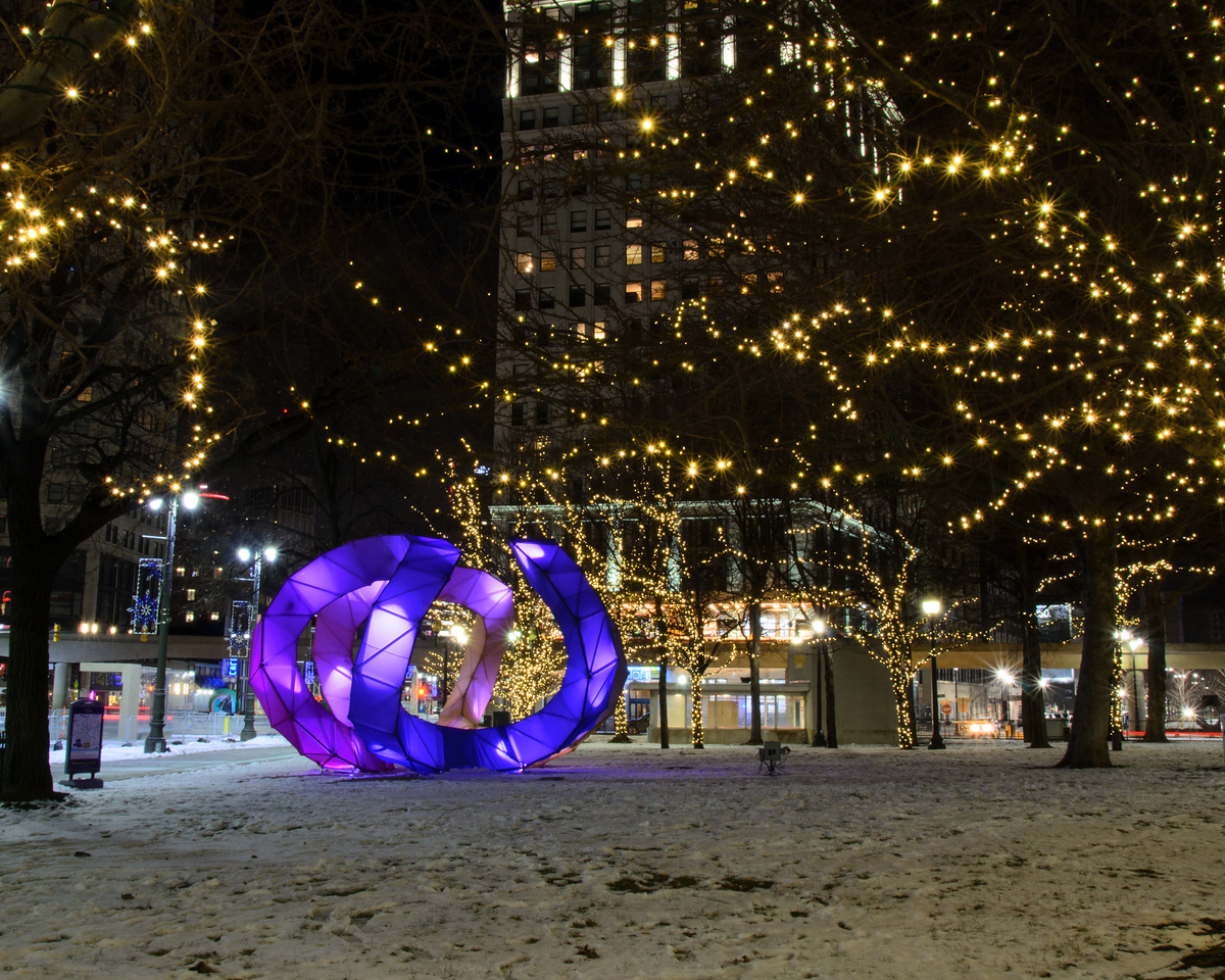 LuminoCITY and Lights in Grand Circus Park, Detroit