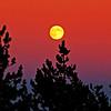 Full moon over East Butte on 8/13/2011