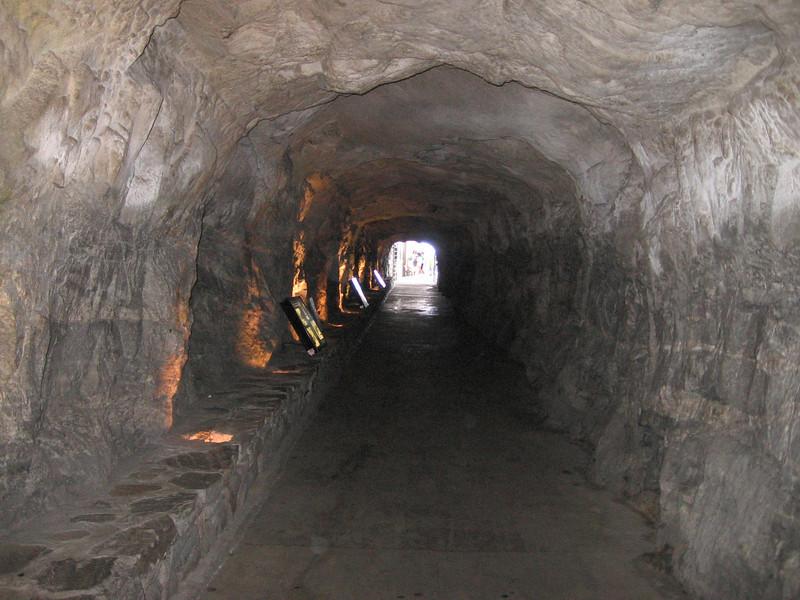 Tunnel heading into Chimney Rock State Park, North Carolina