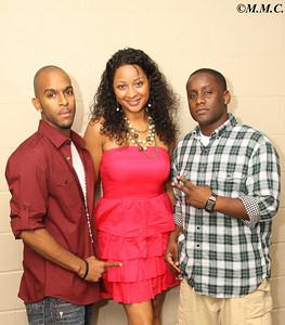 C. Diddy (L) Big Sue (M) DJ Houston (R)