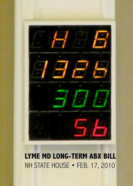 NH House of Representatives vote passing Long-Term Lyme Disease Antibiotics Bill, 2/17/10