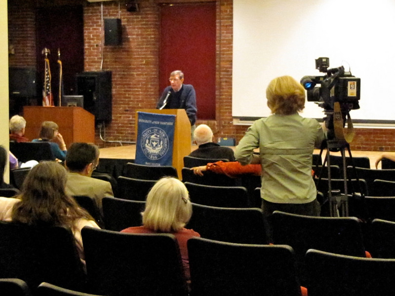 Lyme Film & Discussion at UNH Manchester, NH, 4/13/10<br /> Filming for Chronical on WMUR TV.