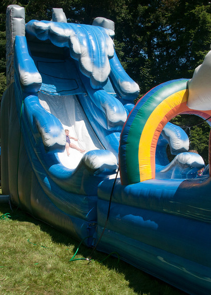 And the inflatables always draw a crowd. and served to cool off the picnicers