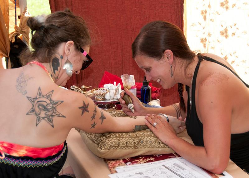 Also receiving a tatoo was Kattie Blu. Cordelia was the artist.