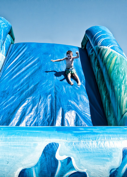 Here's Ben Belisle heading down the slide. Ben is the son of Michael Belisle and Rebecca Bauer and grandson of Dianne Bauer, chairperson of the Lynden Scholarship Committee and friend of the Company