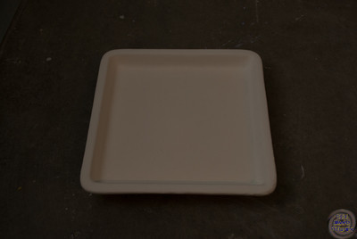 6 inch by 6 inch square tray with rounded corners