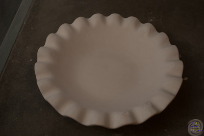 Scalloped edge bowl, 11 1/2 inch diameter