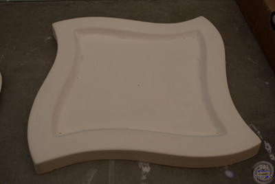 Distorted square tray - 12 1/4 inches to a little over 13 inches - varying