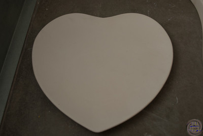 Heart plate - 11 inches across and 10 inches tall