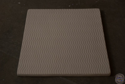 Squarish tile with rounded corners and texture - 6 3/4 X 6 7/8 inches