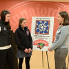 J.S.CARRAS/THE RECORD Margaret Mahar, of Lake Placid, cross-country ski coach for N.Y. Ski Education Foundation and Nina Armstrong 16, of Lake Placid a cross-country skier talk with Molly Tarleton, community relations specialist for Hannaford Supermarkets Wednesday, January 15, 2014 at Hannaford Supermarket in Albany, N.Y.. Hannaford Supermarkets will serve as its inaugural presenting sponsor at the 2014 Empire State Winter Games.