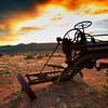 Adams Leaning Wheel Grader<br /> Toroweap Road<br /> Grand Canyon National Park<br /> Arizona