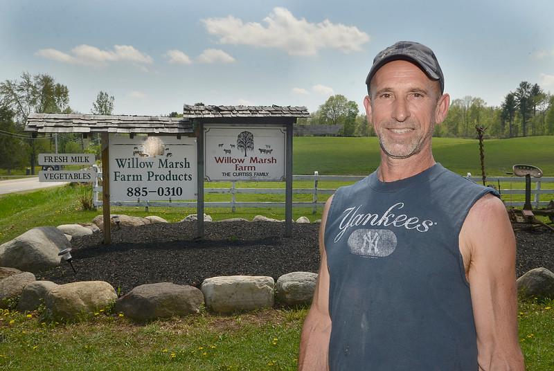 J.S.CARRAS - JCARRAS@DIGITALFIRSTMEDIA.COM  Chuck Curtiss, owner of Willow-Marsh Farm Monday, May 11, 2015 in Ballston Spa, N.Y..