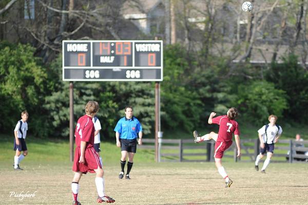 MBA Varsity Soccer vs BA 4-20-09