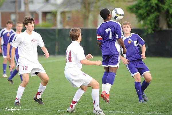 MBA Varsity Soccer vs Father Ryan 4-24.09