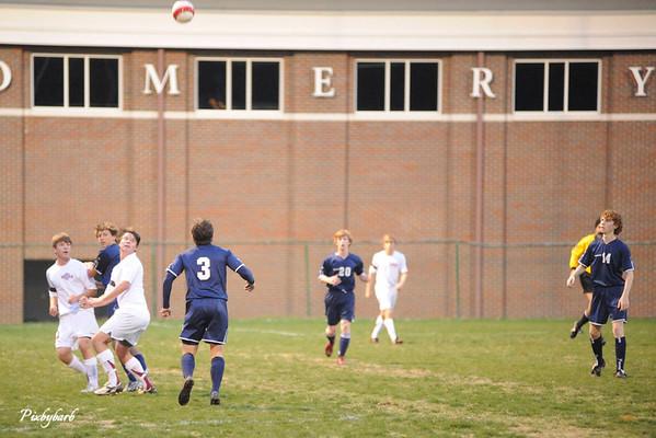 MBA Varsity Soccer vs JP II 3-27-09