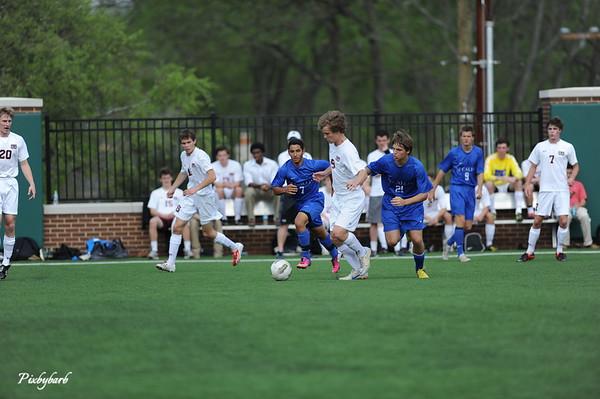 MBA Varsity Soccer vs McCallie 4-16-13