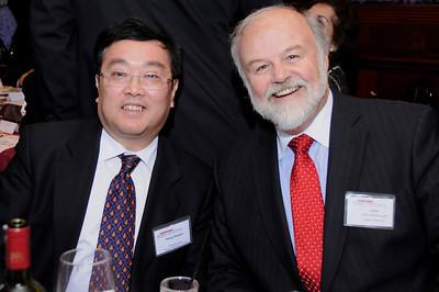 Minister-Counselor Heng and Secretary McDonough at 2013 CNY MCBC Banquet
