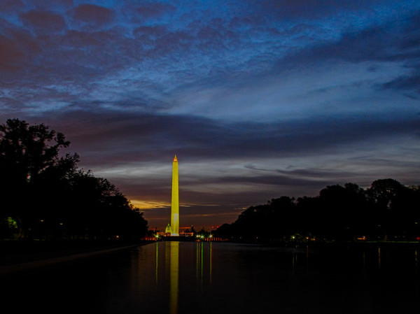 Sunrise at Washington Monument