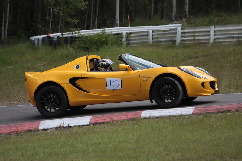 The Elise is well placed here and would probably have clipped the apex which lies just a little further up the road.