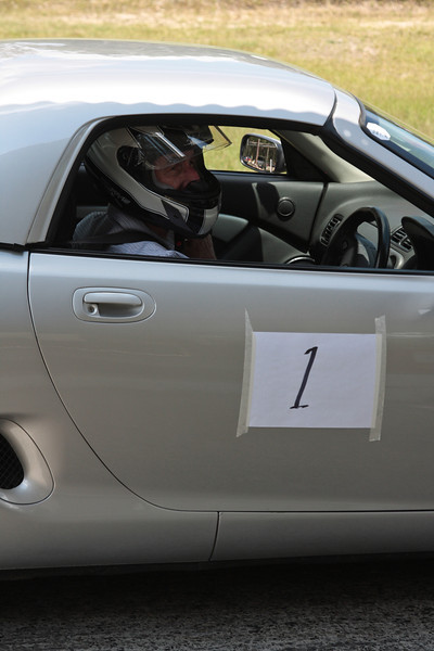 "Immediate past-president of the MGCC Sydney, Arthur Scarf lines up in his pretty MGF with hard top. It was Arthur's first ""Speed event""."