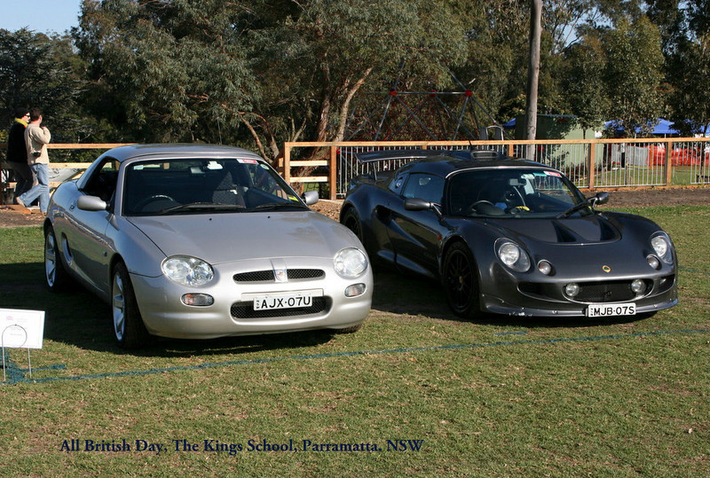 """Arthur Scarf's MY 2001. UK build 21/01/2001, Australian plate May 2001. NSW Registered AJX07U. VIN: SAARDWBGB1D525618, Eng No. 18K4FM09399707. Silver (NMX), Interior Black black cloth (WEW). Hardtop fitted. Arthur was the President of the MGCC NSW. Here at The Kings School """"All British Clubs' Day 2010."""