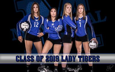Memorial Girls Volleyball Class of 2019 Seniors