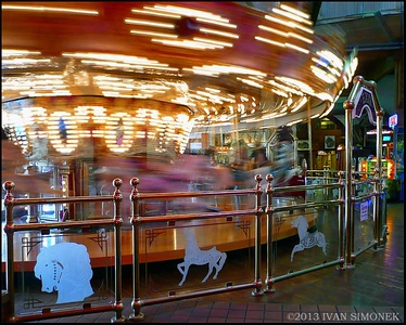 """MERRY-GO-ROUND"",Seattle,Washington,USA."