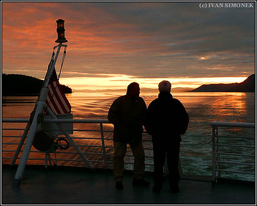 """MATANUSKA SUNSET"",aboard AMH ferry Matanuska,Southeast Alaska,USA."