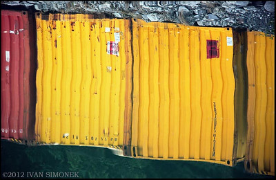 """CONTAINER REFLECTION 1"", Wrangell,Alaska,USA."