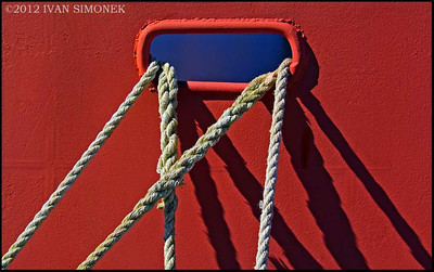 """ROPES"",harbor motif, Wrangell,Alaska,USA."