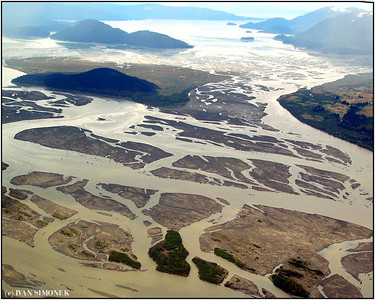 """LABYRINTH"", Stikine river delta, Alaska, USA."
