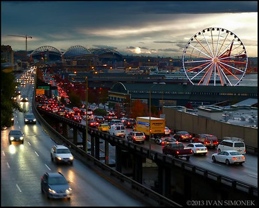"""EVENING RUSH"",Seattle,Washington,USA."